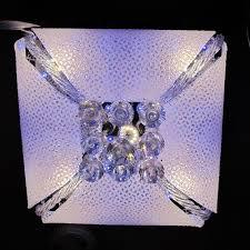 square multi colour led chandelier