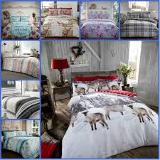details about 100 brushed cotton flannelette duvet set double king size bedding bed tartan