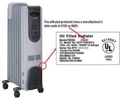 space heater and water heater recalls page 2 the portable electric radiator style heaters have seven fins one of which has the control panel attached to it the units are gray a black control