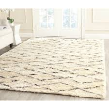 safavieh casablanca collection csb847a handmade ivory and brown premium wool cotton area rug