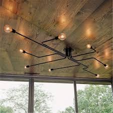 vintage industrial semi flush mount ceiling chandelier steampunk pendant light
