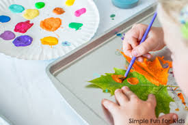 art projects for kids painting leaves simple and oh so beautiful