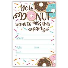 Party Invitations Amazon Com Donut Party Invitations With Envelopes 20 Count