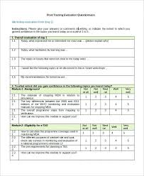 Employee Training Survey Questions Post Template Evaluation ...