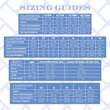 6m Shoe Size Chart Sizing Chart The Beaufort Bonnet Company