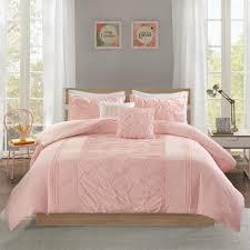 shayda 4 piece blush twin twin xl solid comforter set
