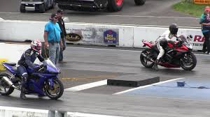 2016 suzuki gsxr 1000 vs nitrus yamaha r6 street bike racing drag