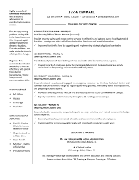 Resume For Security Guard Best Sample Security Ficer Resume Sample