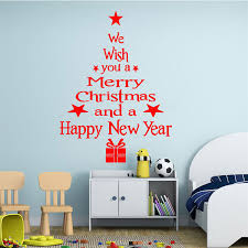 Christmas Decorations For The Wall Removable Merry Christmas Tree Wall Window Sticker Home Party