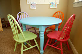 new craft table and chairs for the playroom tered