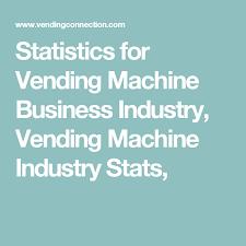 Vending Machine Industry Statistics Inspiration Statistics For Vending Machine Business Vending Machine Industry