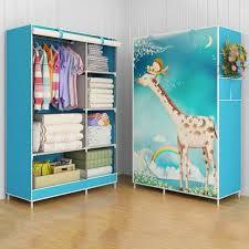 storage cabinet bedroom print non woven wardrobes cloth storage saving space locker closet sundries dustproof 02 worldwide free dx