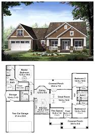 Cool house plan id chp 42920 total living area 1619 sq ft · craftsman