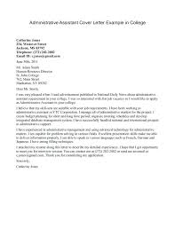 Administrative Assistant Cover Letter Custom Sample Cover Letter For Administration Cover Letter Sample Assistant