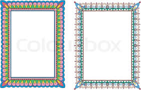 Two Colorful Frames Stock Vector Colourbox