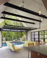 screened in garage door26 Glass Garage Door Ideas To Rock In Your Interiors  DigsDigs