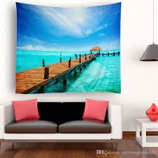 230x150cm wxh sea world fishes shell seascape polyester wall hanging decoration tapestry throw yoga mat indian beach shawl bath towel wall tapestries uk