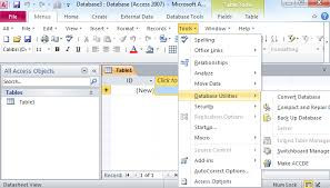 database tools where is the tools menu in microsoft access 2007 2010 2013 and 2016