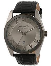 amazon co uk kenneth cole watches kenneth cole men s 44mm blue calfskin band steel case quartz grey dial analog watch kc1925 certified refurbished