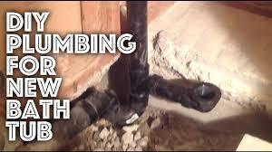 <b>Bathtub</b> Plumbing - New Installation - YouTube