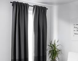 Dark grey block-out curtains
