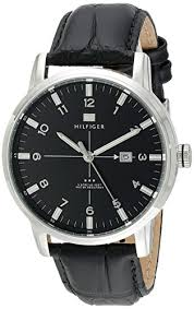 amazon com tommy hilfiger men s 1710330 stainless steel watch amazon com tommy hilfiger men s 1710330 stainless steel watch black genuine leather band tommy hilfiger watches