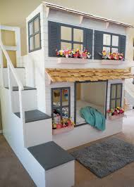 House Bunk Bed The Ultimate Custom Dollhouse Loft Bunk Or Triple Bunk Bed