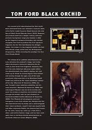 reflective journal  tom ford black orchid fragrance advert analysis essay