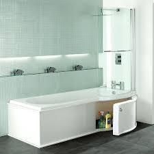 p shaped bathtub shower screen for freestanding bath mode maine