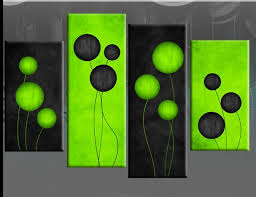 wall decorations 8 green canvas decor woo lime green wall decor within most cur