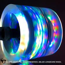 Light Up Longboard Wheels Volcanic Ablaze Longboard Lightup Skateboard Wheels