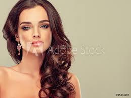 Fotografie Obraz Krásná Dívka Světle Hnědé Vlasy S Elegantní účes