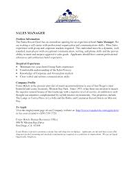 Sample Resume Hospitality Skills List Resume Templates For Hotel Housekeeping Sample Sales Manager 60