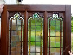 pine door stained glass room divider partition antique doors and doorways