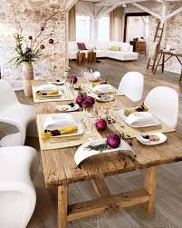 white rustic dining table. Fantastic Dining Room Decoration With Various Table Centerpiece Ideas : Lovely Rustic White W