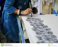 How To Draw Batik Designs Thai Women Create And Making Batik Tie Dye Process Paint And
