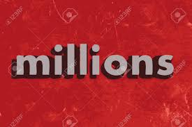 Image result for millions word