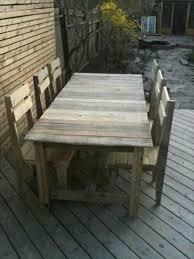 diy pallet dining table set