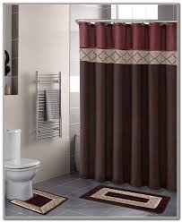 bathroom decor shower curtains contemporary bathroom decor with shower curtain bath rug sets and