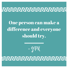 one person can make a difference quotes one person can make a difference quotes