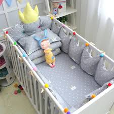 multi colored quilts 7pcs set grey crown pattern crib bedding set multi color and size baby