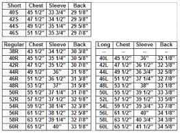 Punctilious Sport Coat Sizing Chart 2019