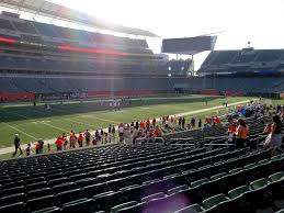 Paul Brown Stadium View From Lower Level 146 Vivid Seats