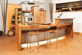 Rustikale moderne offene Küche design mit Holz Kabinett und