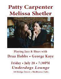 Patty Carpenter & Melissa Shetler Jazz & Blues in Shelburne Falls