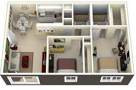 two bedroom apartment house plans