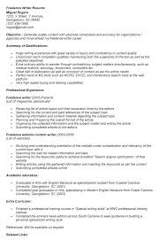 Sample Resume For Freelance Writer Best of Freelance Experience On Resume Dadajius