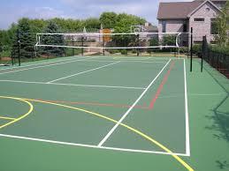 Imposing Design How Much Does A Sport Court Cost Best Backyard Backyard Tennis Court Cost