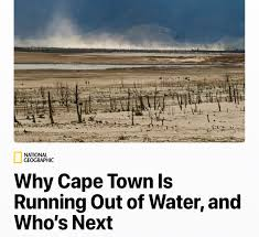 Image result for nATIONAL GEOGRAPHIC CAPE TOWN RUNNING OUT