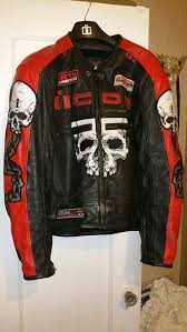 icon skull leather jacket motorcycle jacket for in hayward ca offerup
